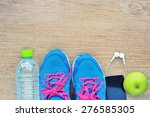 sport shoes and water with set...   Shutterstock . vector #276585305