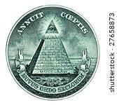dollar pyramid on white... | Shutterstock . vector #27658873
