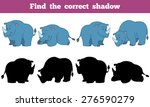find the correct shadow  rhino  | Shutterstock .eps vector #276590279