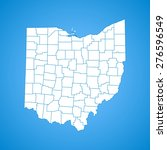 ohio map | Shutterstock .eps vector #276596549