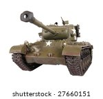 M-24 tank model isolated