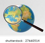earth under magnifying glass | Shutterstock . vector #27660514