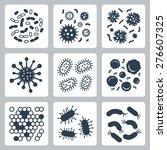Vector Bacteria  Microbes Icon...