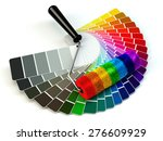 roller brush and color guide... | Shutterstock . vector #276609929