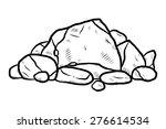 Stack Of Rocks   Cartoon Vector ...