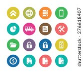 bank icons universal set for... | Shutterstock .eps vector #276618407