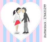 girl and boy | Shutterstock .eps vector #276621299