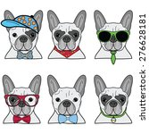 french bulldog incons | Shutterstock .eps vector #276628181