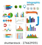 business graph for information... | Shutterstock .eps vector #276629351