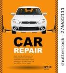 car auto repair lift. template... | Shutterstock .eps vector #276632111