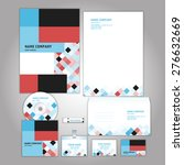 corporate identity template.... | Shutterstock .eps vector #276632669