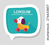 toy dog flat icon with long... | Shutterstock .eps vector #276633857