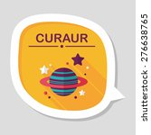 space planet flat icon with... | Shutterstock .eps vector #276638765