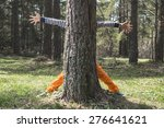 child play in the forest hidden ... | Shutterstock . vector #276641621