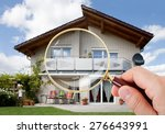 person hand with magnifying... | Shutterstock . vector #276643991