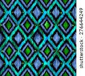 seamless diamond ikat ogee... | Shutterstock . vector #276644249