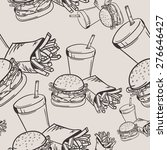 Vector Hand Drawn Fast Food...