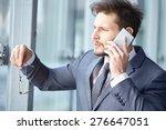 handsome businessman on the... | Shutterstock . vector #276647051