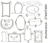 hand drawn doodles and frames. | Shutterstock .eps vector #276647684