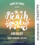 Typographic Beach Party Music...