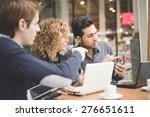 multiracial business people... | Shutterstock . vector #276651611