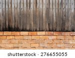 Wood Fence And Brick Wall