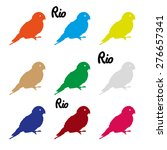 colors parrots icons symbol and ... | Shutterstock .eps vector #276657341