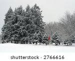 Winter Landscape  Golf Course