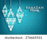 beautiful elegant ramadan... | Shutterstock .eps vector #276665531
