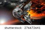 Alien Spaceship  With Spherica...