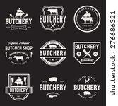 vector set of butchery labels ...   Shutterstock .eps vector #276686321
