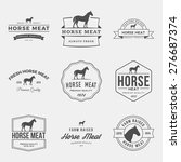 vector set of premium horse... | Shutterstock .eps vector #276687374