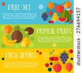 fruits banners in flat style.... | Shutterstock .eps vector #276694157