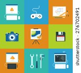 creative process icons set of... | Shutterstock . vector #276702491