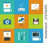 creative process icons set of...