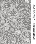 hand drawn lace doodles retro...   Shutterstock .eps vector #276708149