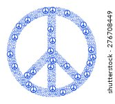 blue peace sign formed by many... | Shutterstock .eps vector #276708449