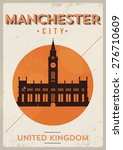 manchester city vintage poster... | Shutterstock .eps vector #276710609