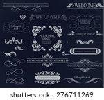 set of calligraphic elements... | Shutterstock .eps vector #276711269