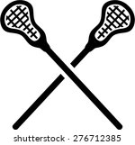 lacrosse sticks crossed | Shutterstock .eps vector #276712385