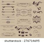 set of calligraphic elements... | Shutterstock .eps vector #276714695