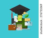financial education cost money...   Shutterstock .eps vector #276731069