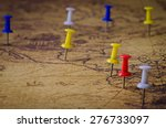 marked location on old map | Shutterstock . vector #276733097