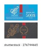 voucher template with premium... | Shutterstock .eps vector #276744665