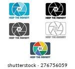 shutter icon or logo design... | Shutterstock .eps vector #276756059