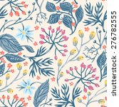 vector floral seamless pattern... | Shutterstock .eps vector #276782555