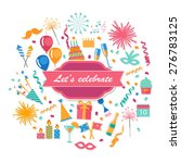 party and celebration... | Shutterstock .eps vector #276783125
