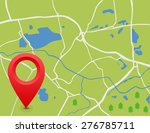 the vector map. the pointer on... | Shutterstock .eps vector #276785711