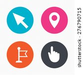 circle buttons. mouse cursor... | Shutterstock .eps vector #276790715