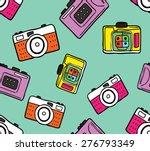 vintage camera background | Shutterstock .eps vector #276793349